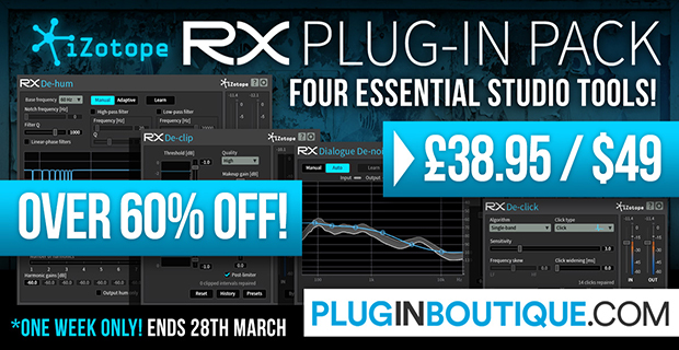 izotope announced rx plug in pack audio cleaning plugins 60 off for limited time synth anatomy. Black Bedroom Furniture Sets. Home Design Ideas