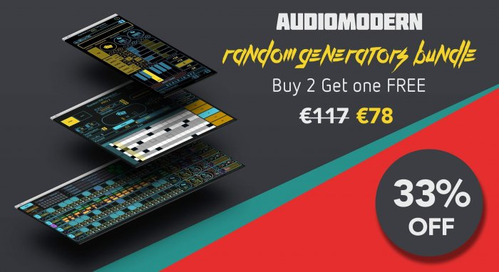 Buy 2 Get One Free Deal On The Audiomodern Random Generators
