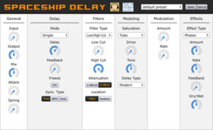 Musical Entropy: Spaceship Delay