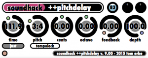 soundhack ++pitchdelay