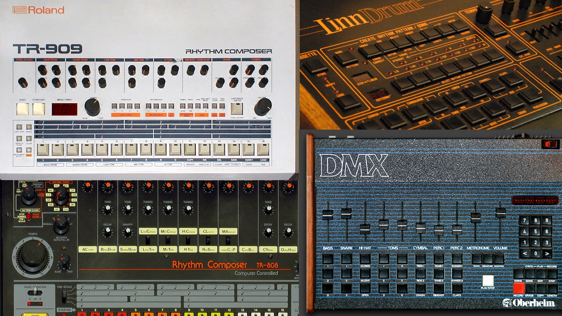 BEHRINGER Teased 5 New Drum Machines (LMX, OMX, 808, 909, 999)