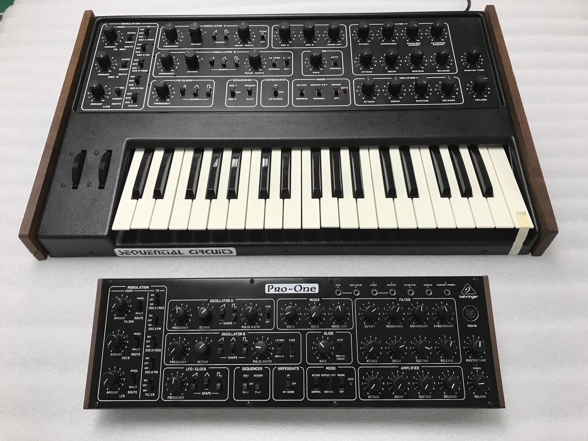 new pictures of the behringer pro one synthesizer released. Black Bedroom Furniture Sets. Home Design Ideas