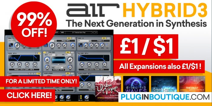 AIR Music Tech Hybrid 3 Synthesizer 1$ Sale Is Back