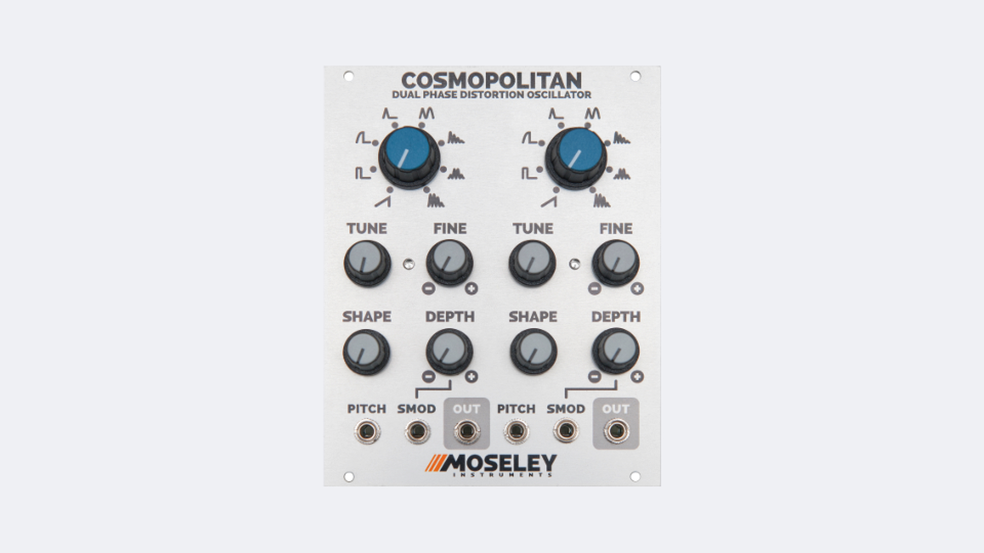 The Cosmopolitan Is A New Dual Phase Distortion Oscillator For Eurorack Audio Oscillators