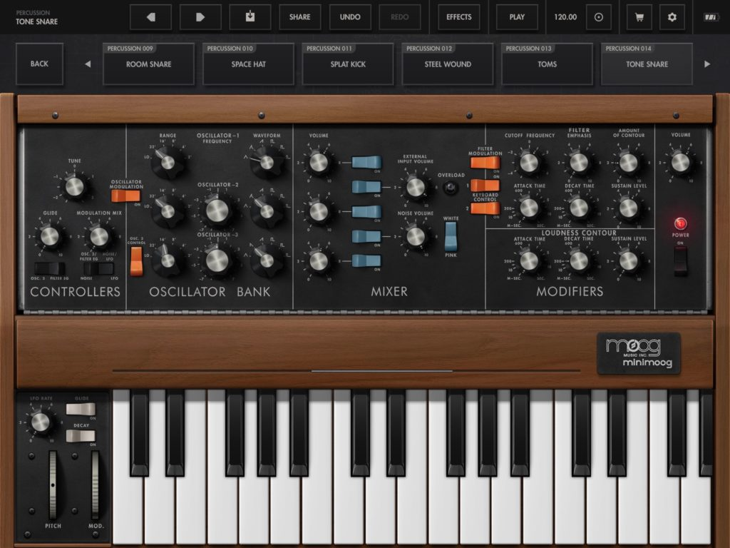 100 free patches for the moog minimoog model d synthesizer app