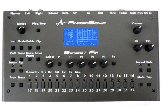 FingerSonic Announced SYNSET FM - 6 Operator FM Synthesizer
