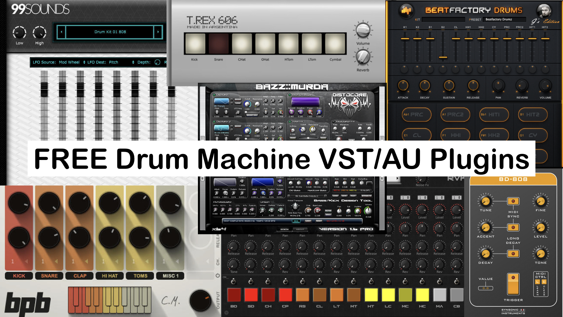 Best Freeware Drum Machine Plugins For PC & Mac!