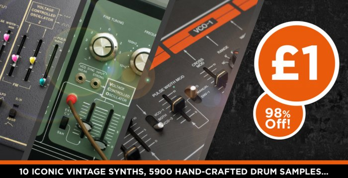 Synth Drums - 5900 Drum Samples From Vintage Synths For Only