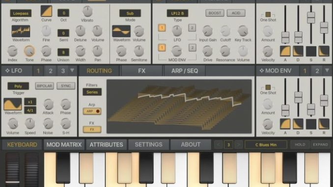 Synthmaster One iPad