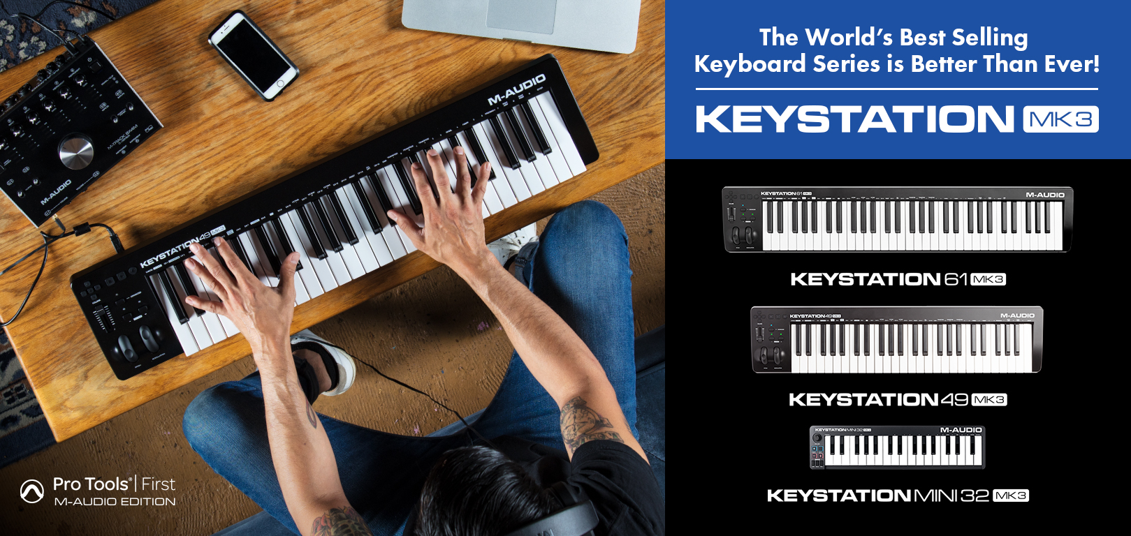 M-Audio Introduced Keystation MK3 MIDI Keyboard Controller Series!