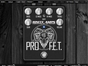 Ignite Amps Released ProF E T FREE Distortion/Preamp Plugin VST/AU