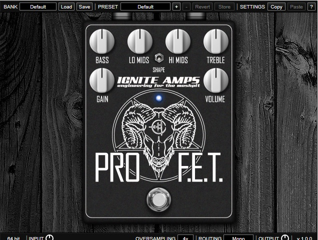 Ignite Amps PROF.E.T free distortion