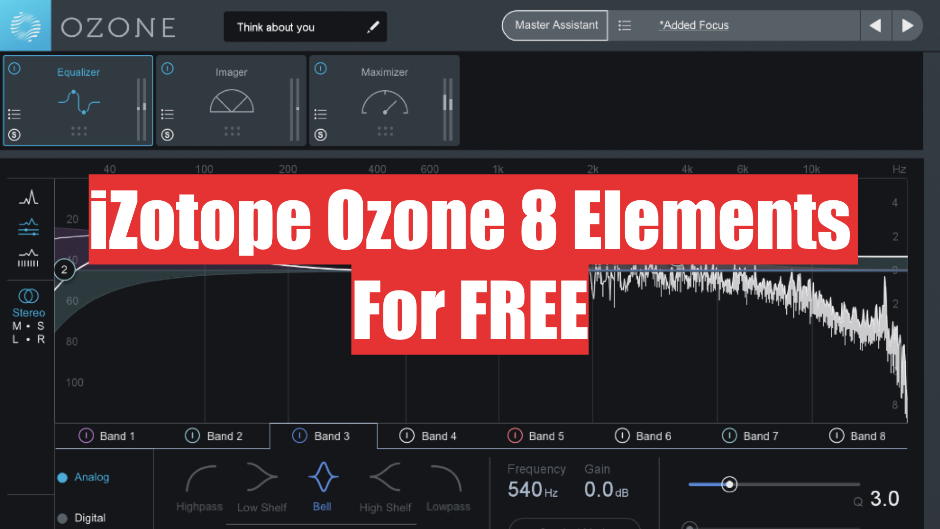 izotope ozone 8 elements for free with a purchase at plugin boutique. Black Bedroom Furniture Sets. Home Design Ideas