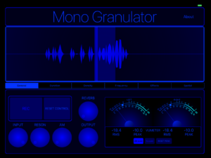 MonoGranulator iPad iOS
