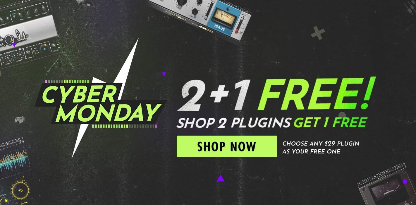 Deal: Waves Cyber Monday 2+1 Deal & H-Comp Plugin Free Download