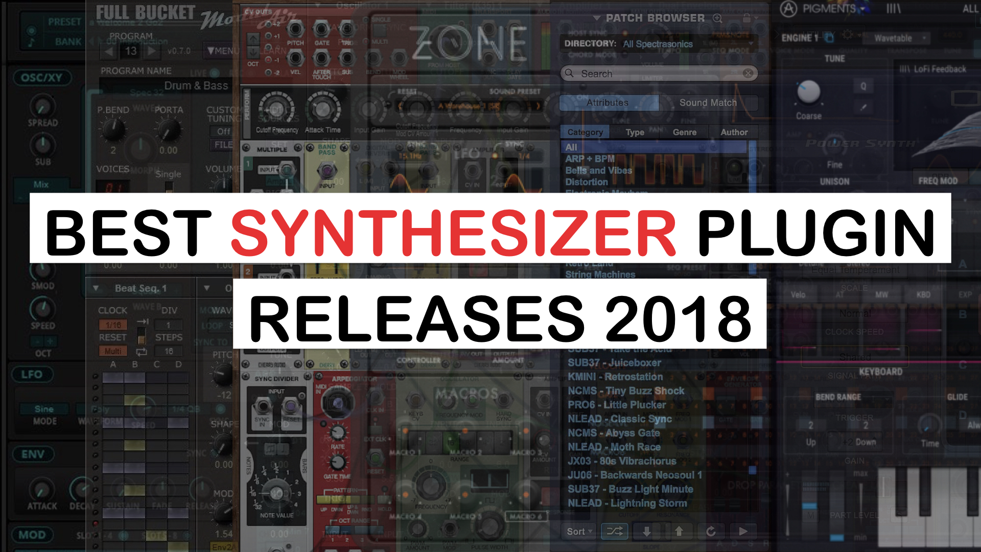 News: Best Synthesizer Plugin Releases In 2018 - SYNTH ANATOMY