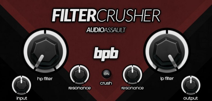 Audio Assault Filtercrusher free filter plugin