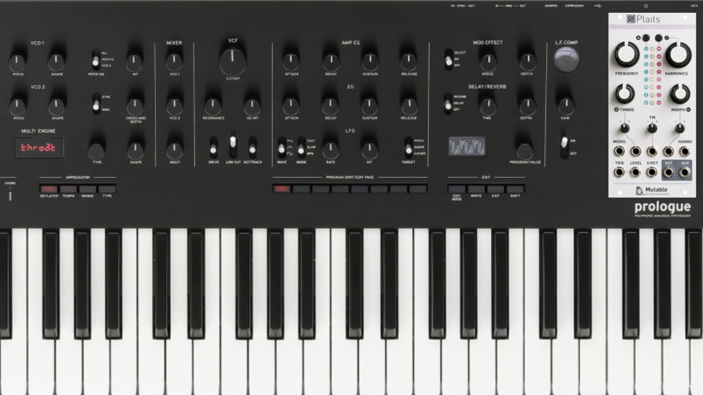 Korg Prologue Mutable Instruments Plaits