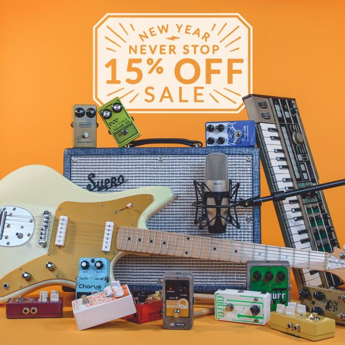 Reverb's New Year Never Stop Sale