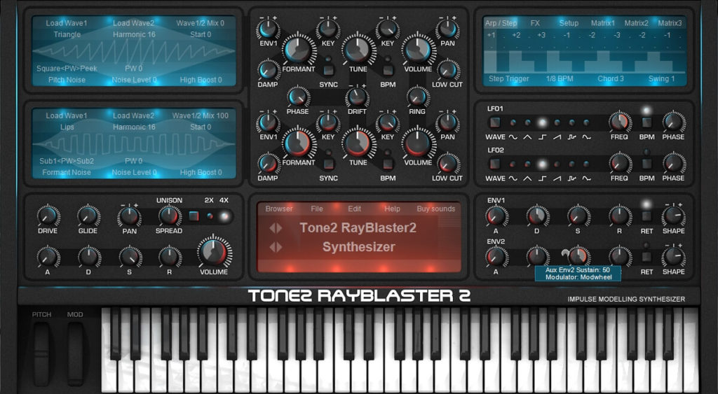 Tone2 RayBlaster 2.5 Synthesizer