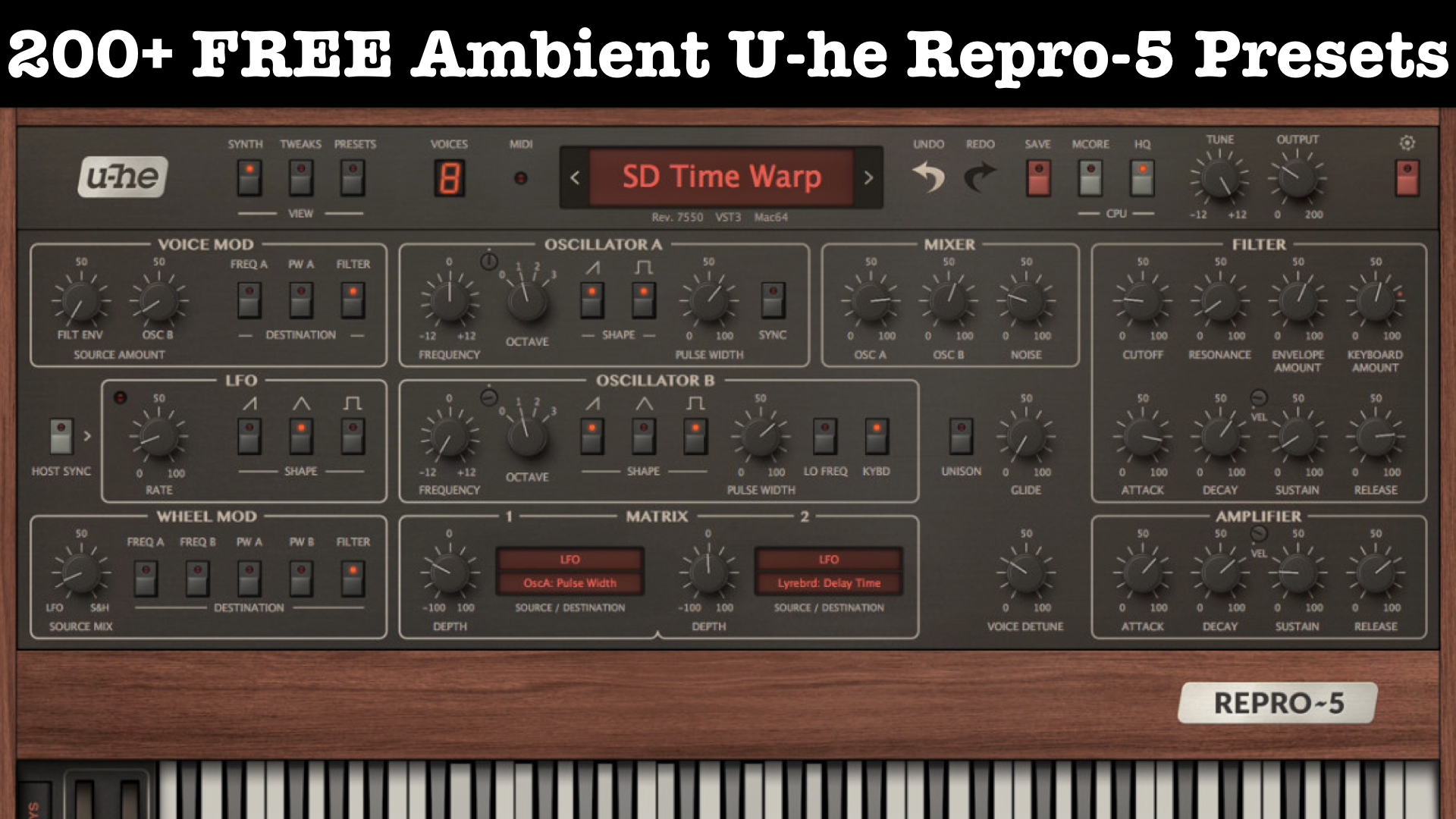 200+ FREE Ambient U-he Repro-5 Presets & 50% OFF Sale Repro