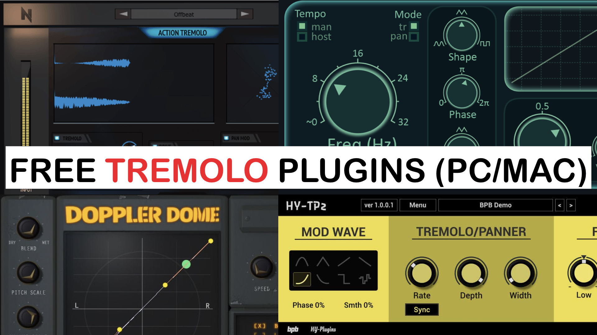 Best Free Tremolo Plugins For PC & Mac With 64-Bit