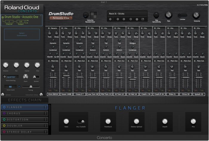 Roland Cloud Drum Studio Acoustic One