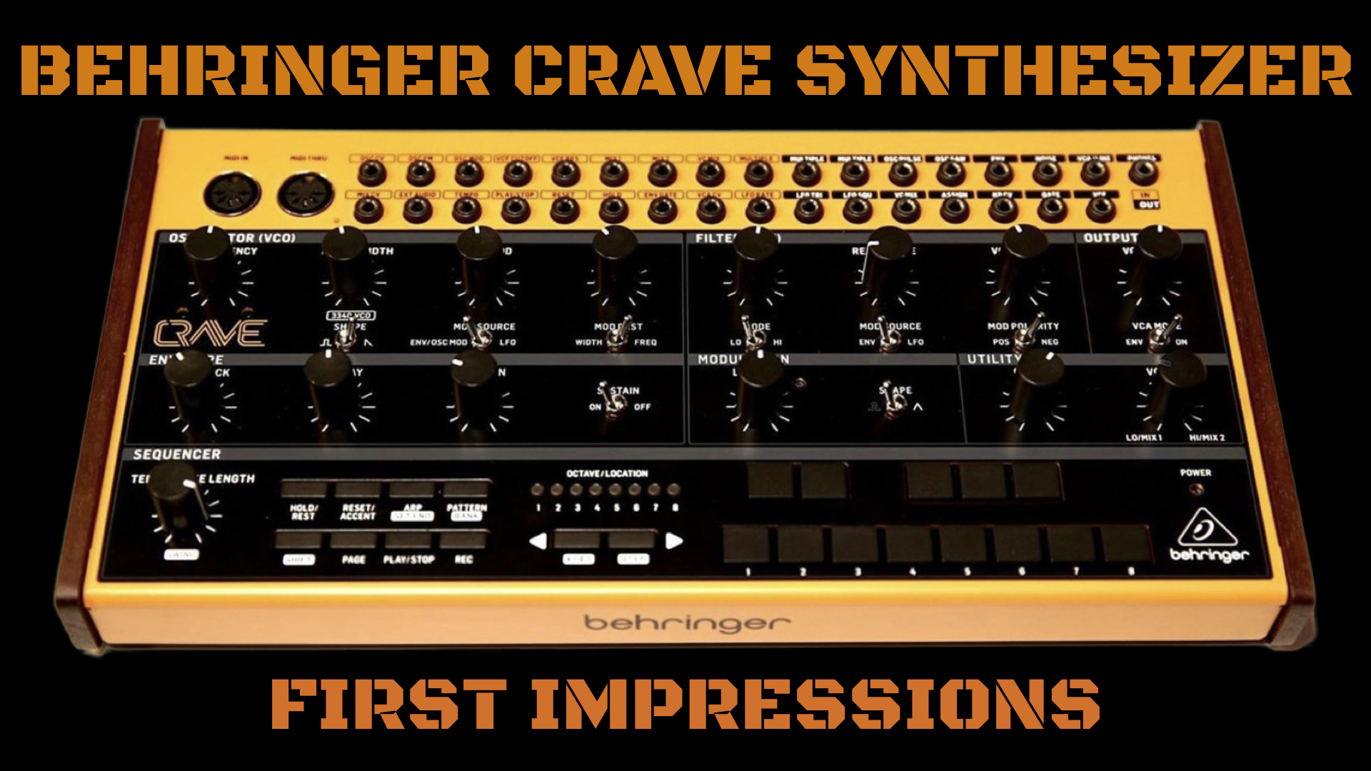 behringer crave synthesizer  many features for little money