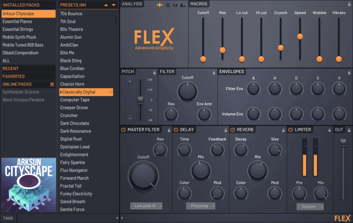 Image Line FL Studio 20.5 Flex Synthesizer