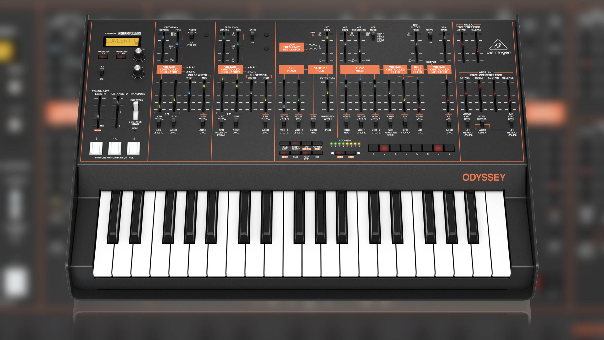 behringer odyssey synthesizer is on the way to the music shops