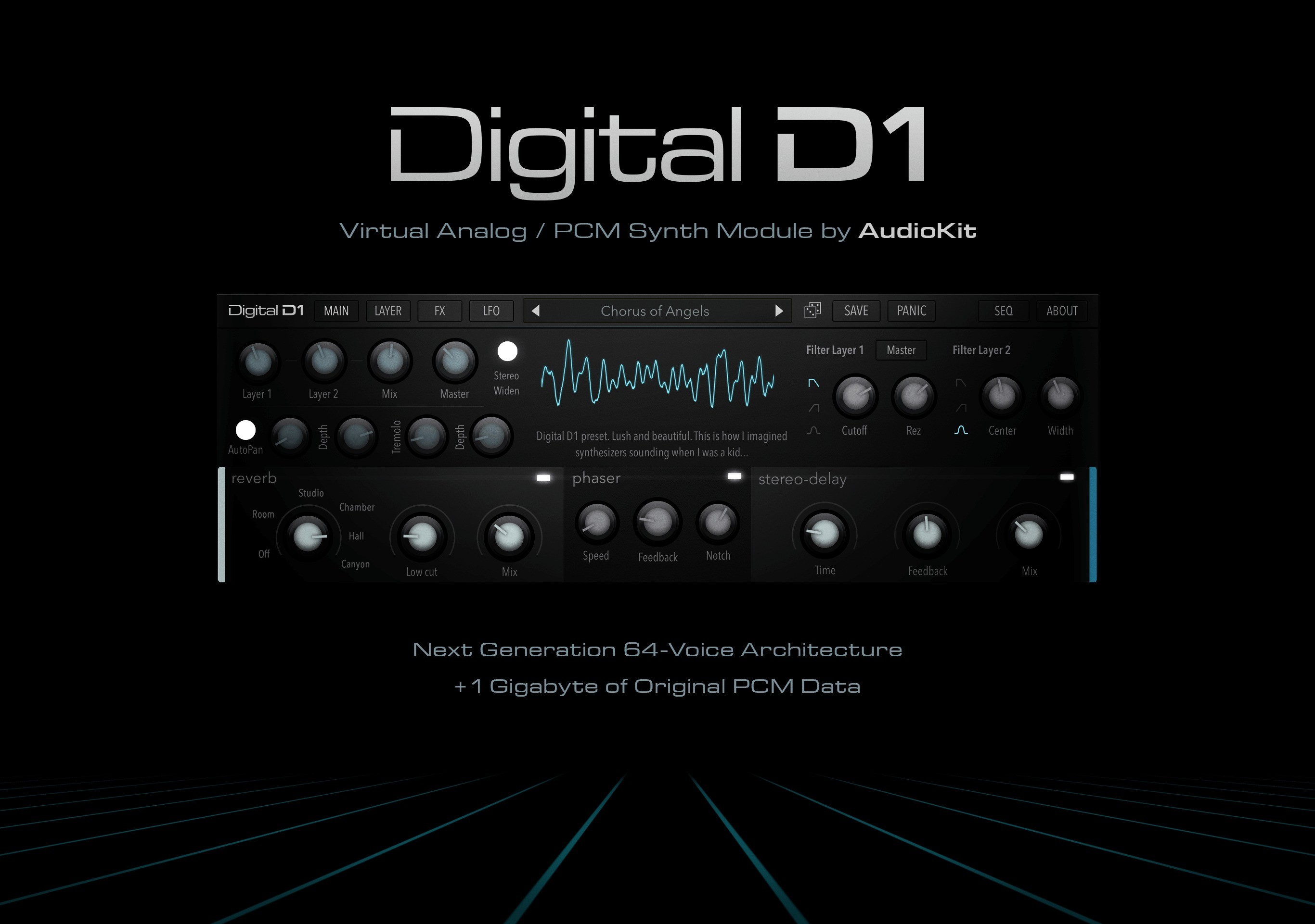 AudioKit Digital D1 Synthesizer V1 1 Adds AUv3 Plugin Support