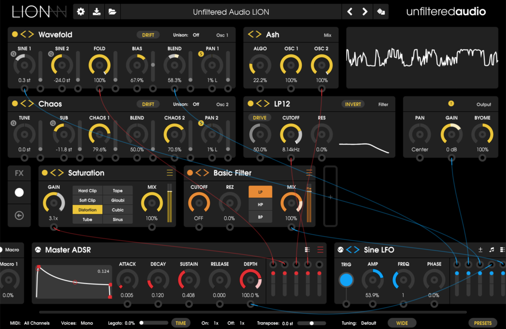 Unfiltered Audio Lion Synthesizer