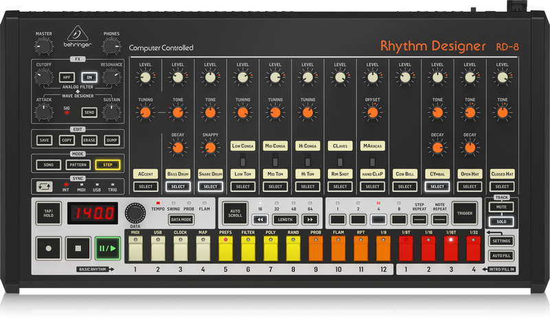 Behringer RD-8 Drum Machine: Shipping Has Started