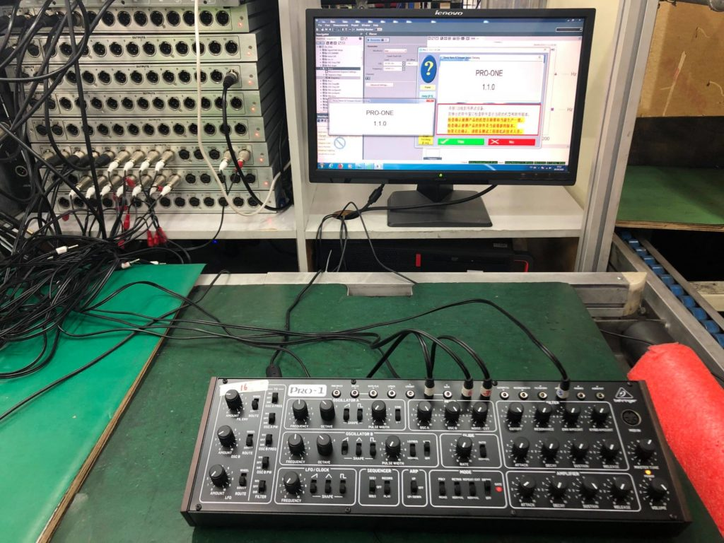 Behringer Pro-1 Production Testing