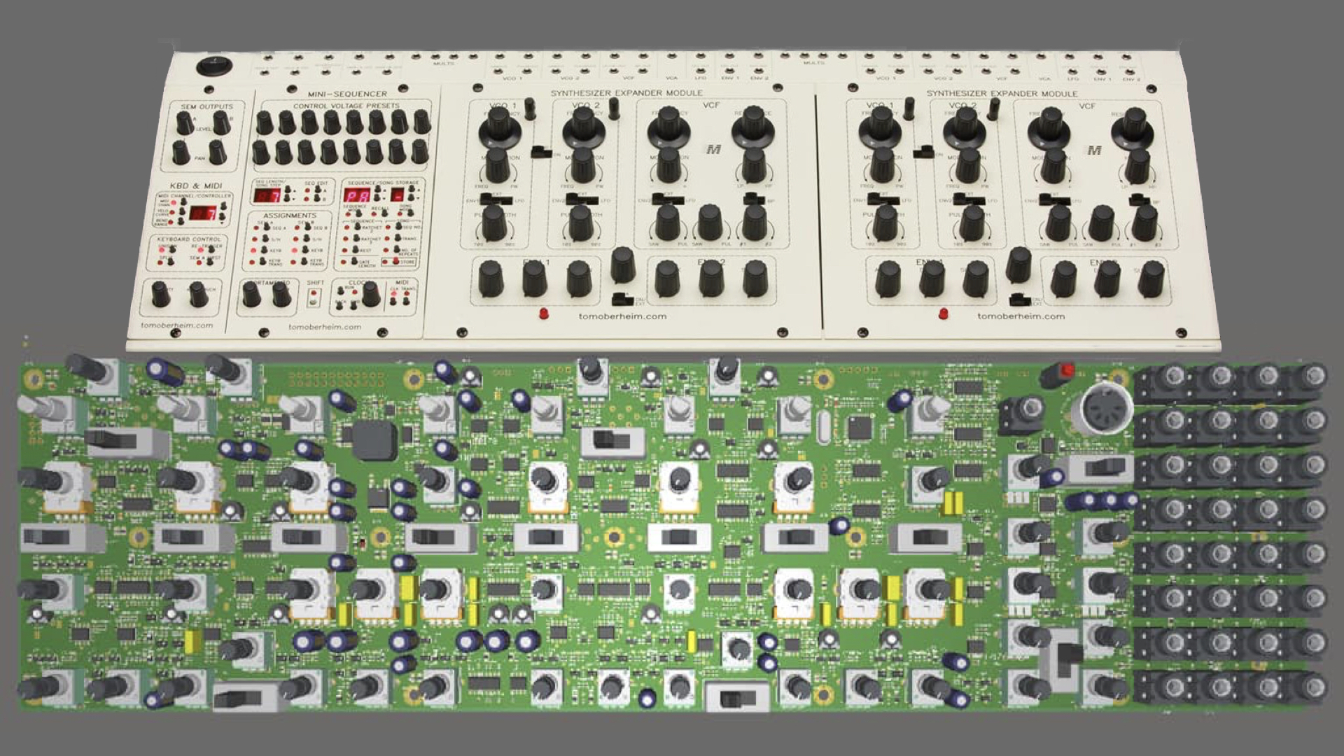 Behringer Pcb Teaser Oberheim Two Voice Synthesizer In Eurorack In The Making