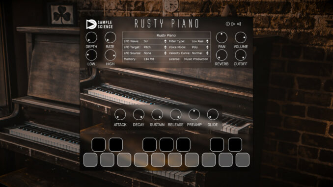 SampleScience Rusty Piano