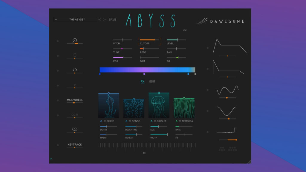 Tracktion Abyss Dawesome