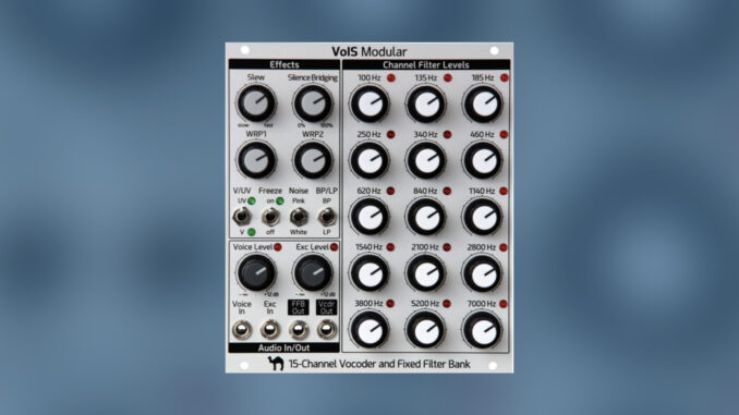 VoIS 15-channel vocoder and fixed filter bank eurorack